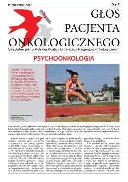 głos pacjenta onkologicznego - Polska Koalicja Organizacji