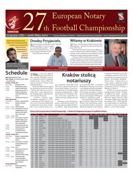 27 Mistrzostwa Europy Notariuszy w Piłce Nożnej