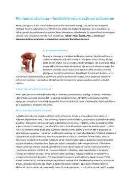 Pompeho choroba – liečiteľné neurosvalové ochorenie