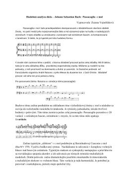 Hudobná analýza Bachovej passacaglie a fúgy c mol