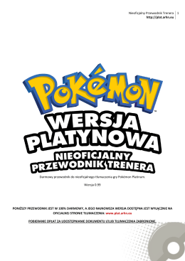 4. Co nowego w Pokémon Platinum?