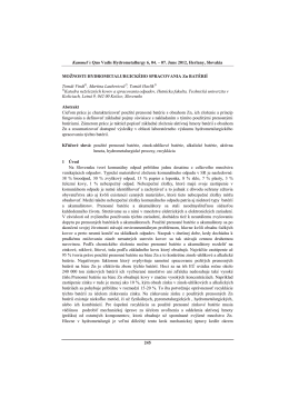 možnosti hydrometalurgického spracovania Zn batérií