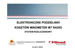 ELEKTRONICZNE PODZIELNIKI KOSZTÓW MINOMETER M7 RADIO