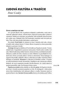 Ľudová kultúra a tradície Peter Cenký