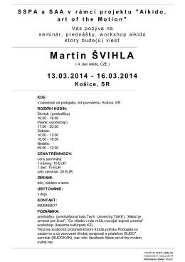 M artin ŠVIHLA - Slavia TUKE Budokan