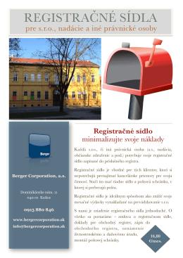 Stiahnite si informačný leták o registračných sídlach