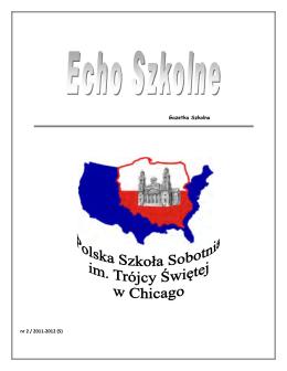 Echo Szkolne 2011-2012 nr2 - Polska Szkoła im. Trójcy Św.
