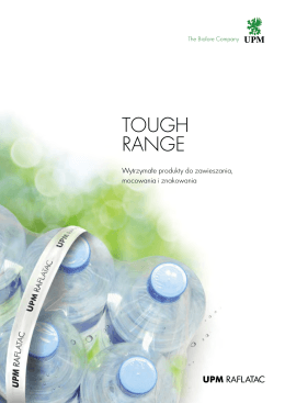 Tough Range - UPM Raflatac Europe