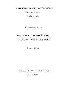 pracovné a študentské aktivity slovákov v českej
