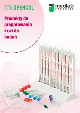 Folder - Produkty do preparowania krwi do badań