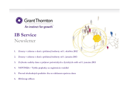 IB Service Newsletter