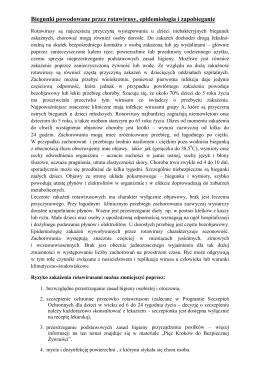 Biegunki powodowane przez rotawirusy, epidemiologia i