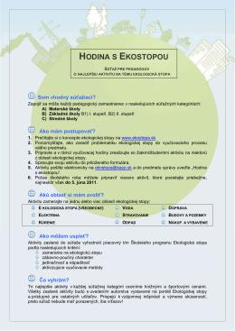 sutaz - Hodina s Ekostopou
