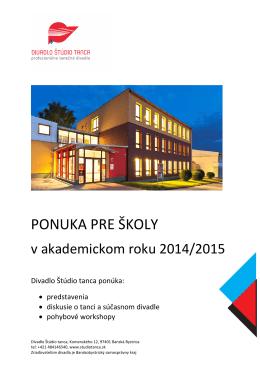 vo formáte PDF - Divadlo Štúdio tanca