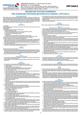VPP KAS-2 - Komunálna poisťovňa