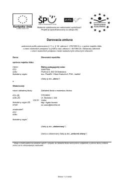 Zm 02/2013 Darovacia zmluva na PC