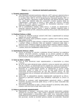 Vizua s. r. o. – všeobecné obchodné podmienky 1. Úvodné