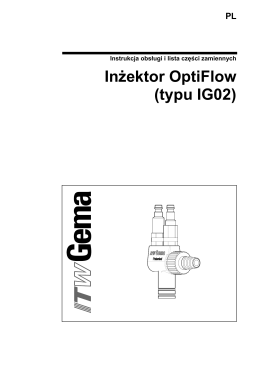 Inżektor OptiFlow (typu IG02)