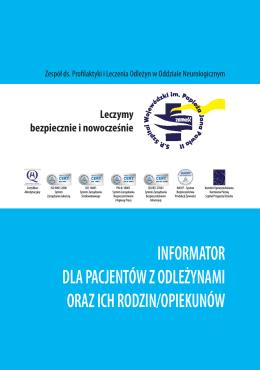 informator dla pacjentów z odleżynami oraz ich rodzin/opiekunów
