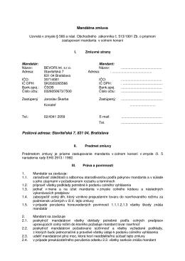 Mandátna zmluva (pdf)