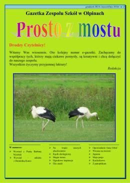 Gazetka szkolna nr 2 - Zespół Szkół w Ołpinach
