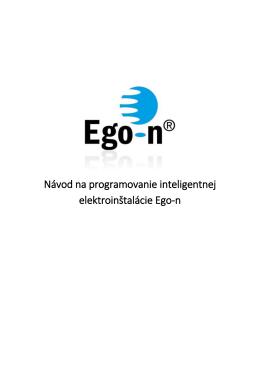 Návod na programovanie inteligentnej elektroinštalácie Ego-n