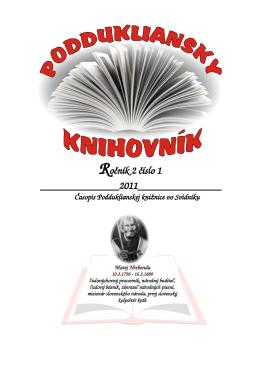 Ročník 2 číslo 1 - Podduklianska knižnica vo Svidníku