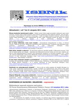 ISBNik_2011.08.22 - Biblioteka Wyższej Szkoły Biznesu