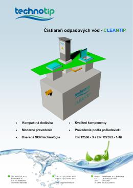 Čistiareň odpadových vôd - CLEANTIP - Purator
