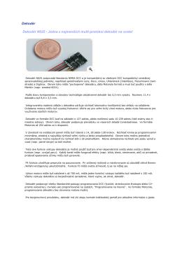 Dekodér Dekodér N025 - Jedna z najmenších multi