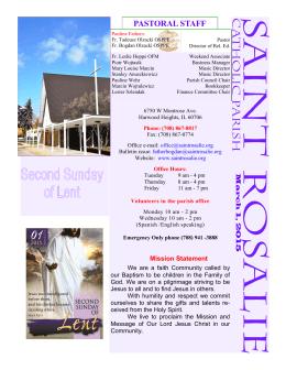 March 1, 2015 Bulletin