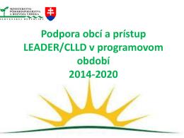 3. prezentácia IROP - p. Barbarič - Ministerstvo pôdohospodárstva a