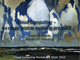 Inne użytkowe rozwiązania Cloud Computing.