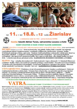 so 11.– so 18.8. r.12 vedie Žiarislav