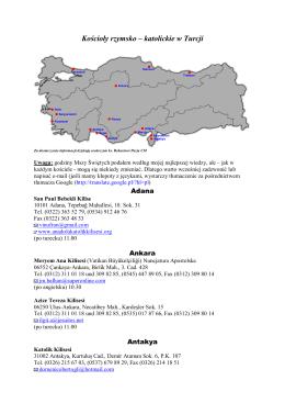 Kościoły rzymsko – katolickie w Turcji
