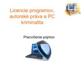 Licencie programov