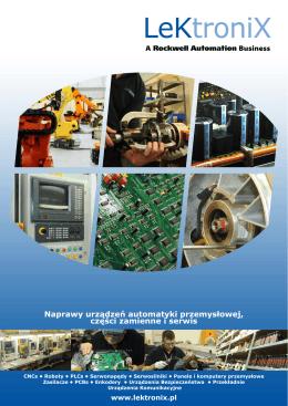 Naprawy urządzeń automatyki przemysłowej, części
