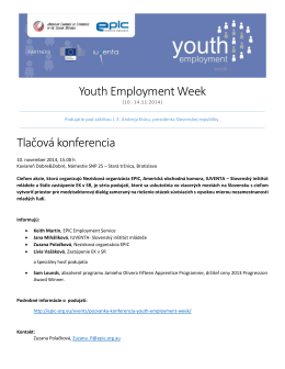 Informačný balík k podujatiu Youth Employment Week
