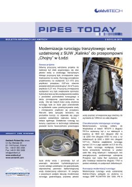 Modernizacja rurociągu tranzytowego wody uzdatnionej z SUW