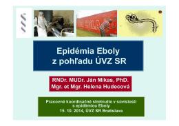 Epidémia Eboly (pdf, 481 kB) - RÚVZ-DS