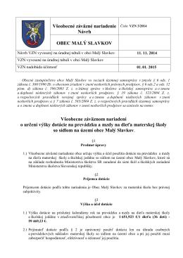 VZN 3/2014 - návrh - Obec Malý Slavkov