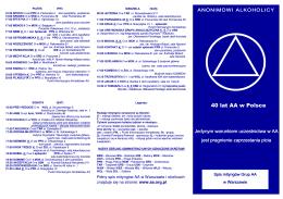 40 ulotka adresowa - Anonimowi Alkoholicy