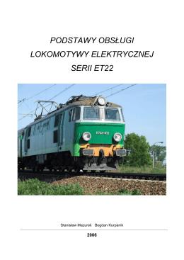 podstawy obsługi lokomotywy elektrycznej serii et22