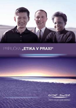 """PRÍRUČKA """"Etika v praxi"""""""