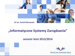 system - Paweł Morawski