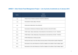 ANNEX 7. Odra-Vistula Flood Management Project – List of priority