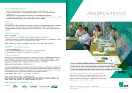 Pozvánka na Akadémiu inovácií v pdf