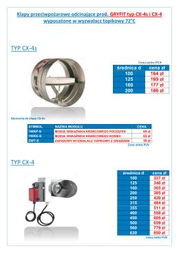 TYP CX-4s TYP CX-4 - Klima-Vent