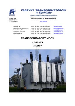 TRANSFORMATORY MOCY