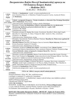 VII Światowy Kongres Rodzin - Mediolan 2012